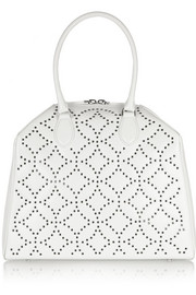 Trapeze Arabesque embellished leather tote