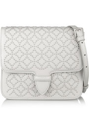 Arabesque mini studded leather shoulder bag
