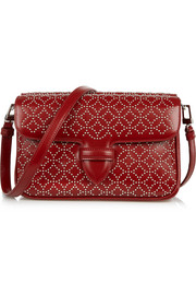Arabesque small studded leather shoulder bag