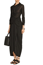 Rick Owens Lilies draped stretch-jersey maxi skirt