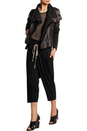 Rick Owens Lilies cropped jersey track pants