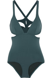 Ephemera Foret Twist Back cutout swimsuit