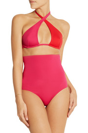 Ephemera Bicolore wrap cutout swimsuit