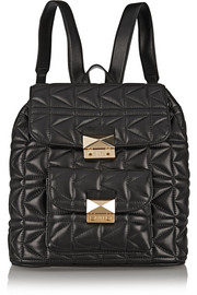 Kuilted leather backpack