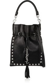 Monogramme studded leather bucket bag