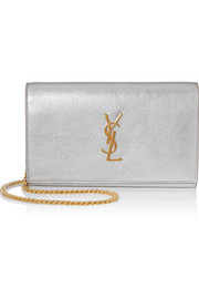 Saint Laurent Monogramme small metallic leather shoulder bag