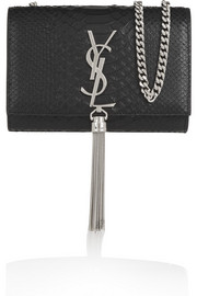 Monogramme small snake-effect leather shoulder bag