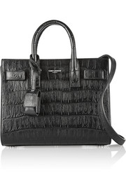 Saint Laurent Sac De Jour Nano croc-effect leather shoulder bag