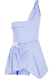 J.W.Anderson Asymmetric striped cotton top