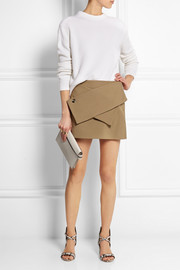 J.W.Anderson Wool-blend twill mini skirt