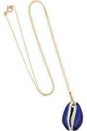 Merco 18-karat gold shell necklace