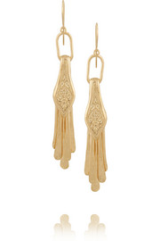 Aurélie Bidermann Iroquois gold-plated earrings