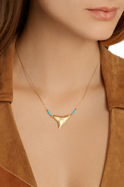 Aurélie Bidermann 18-karat gold turquoise necklace