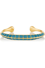 Apache lacquered gold-plated cuff