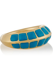 Apache lacquered gold-plated ring