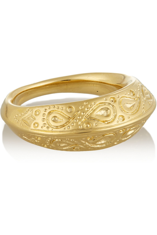 Aurélie Bidermann Apache gold-plated ring