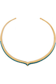 Apache lacquered gold-plated necklace