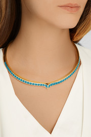 Aurélie Bidermann Apache lacquered gold-plated necklace