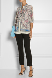 Etro Paisley-print cotton and silk-blend blouse