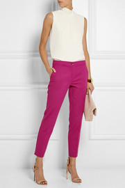 Etro Stretch cotton-blend faille tapered pants