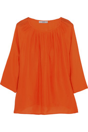 Etro Pleated silk top