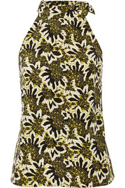 Etro Floral-print silk-crepe top