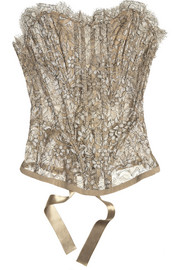 Signature metallic lace corset