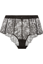 Tearose lace briefs