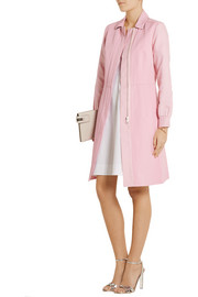 Sonia by Sonia Rykiel Twill-paneled cotton and linen-blend coat