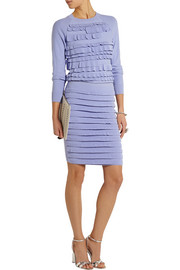 Tiered knitted pencil skirt