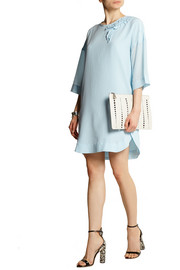 Sonia by Sonia Rykiel Ruffled silk crepe de chine mini dress