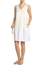 Sonia by Sonia Rykiel Cotton-paneled satin-twill dress