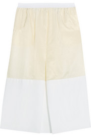 Satin-twill and cotton skirt
