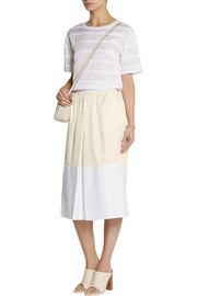 Sonia by Sonia Rykiel Satin-twill and cotton skirt