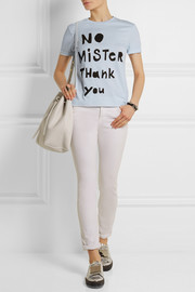 Sonia by Sonia Rykiel No Mister Thank You cotton-blend T-shirt
