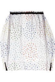 Appliquéd tulle skirt
