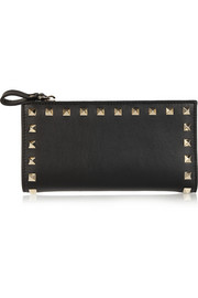 The Rockstud leather continental wallet