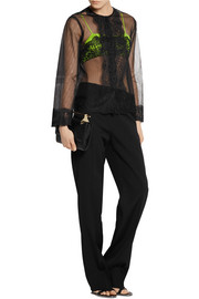 Christopher Kane Lace and stretch-jersey bralet