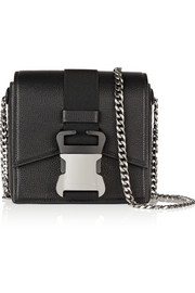 Safety Buckle textured-leather shoulder bag