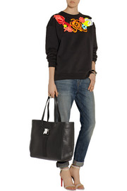 Safety Buckle textured-leather tote