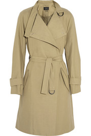 Cotton and linen-blend trench coat