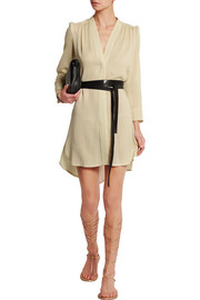 Rivera belted voile mini dress