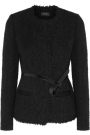 Satchell brushed wool-blend jacket