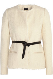 Satchell belted wool-blend bouclé jacket