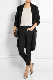 Isabel Marant Lara cropped stretch linen and cotton-blend skinny pants