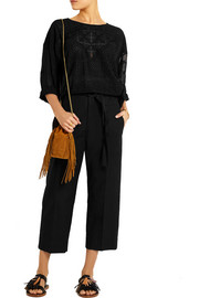 Isabel Marant Onos cotton and linen-blend wide-leg pants