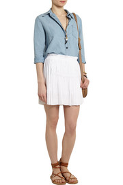 Isabel Marant Alanis pleated crepe mini skirt