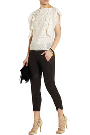 Isabel Marant Allen embroidered silk-georgette top