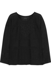 Isabel Marant Alva embroidered silk-georgette top