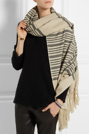 Edith striped cashmere and wool-blend scarf